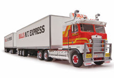 KENWORTH K100 ROAD TRAIN with 2 PANTECH TRAILERS  BULLS N.T EXPRESS