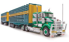 KENWORTH SAR CATTLE TRUCK ROAD TRAIN SET  Bagshaw Bros. WA livery