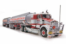 KENWORTH SAR FUEL TANKER ROAD TRAIN  Red North livery