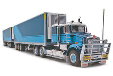 KENWORTH SAR ROADTRAIN REFER PANTECH with two TRAILERS  Blue/Cyan