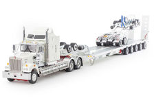 KENWORTH T900 with Drake 5x8 SWINGWING TRAILER & 2x8 DOLLY white/red