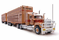 MACK SUPERLINER ROAD TRAIN CATTLE TRUCK w/ 2 TRAILERS (Tanami Transport)