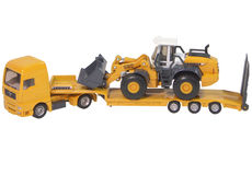 MAN LOW LOADER TRUCK with LIEBHERR 580 WHEEL LOADER