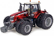 MASSEY FERGUSON 7626 DYNA TRACTOR with Frt & Rr Duals  Special Red Chrome finish