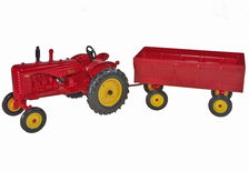 MASSEY HARRIS 44 TRACTOR with 4 WHEEL TRAILER