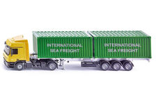 MERCEDES BENZ ACTROS 2048 with SKEL TRAILER & TWO 20 ft CONTAINERS