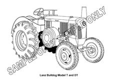 MURRAY PARKER SKETCH (mounted) - LANZ BULLDOG DT TRACTOR