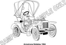 MURRAY PARKER SKETCH (mounted) - ARMSTRONG SIDDELEY 1904