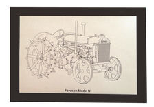 MURRAY PARKER SKETCH (mounted) - FORDSON MODEL