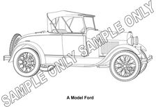 MURRAY PARKER SKETCH (mounted) - FORD MODEL