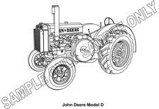 MURRAY PARKER SKETCH (mounted) - JOHN DEERE UNSTYLED