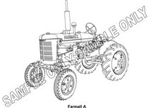 MURRAY PARKER SKETCH (mounted) - McCORMICK FARMALL