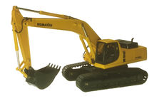 KOMATSU PC450LC HYDRAULIC EXCAVATOR with metal tracks (faded box)