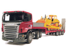 SCANIA R-SERIES LOW LOADER with CAT BULLDOZER