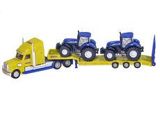 PETERBILT SEMI LOW LOADER with 2 NH T7070 Tractors