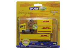MAN SEMI TRAILER with CONTAINERS    KEY RING