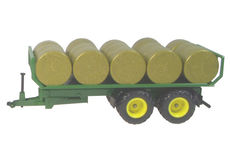 SIKU FLAT BED TRAILER with ROUND BALES
