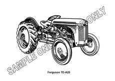 MURRAY PARKER SKETCH (mounted) - FERGUSON TEA-20 TRACTOR