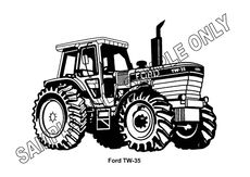 MURRAY PARKER SKETCH (mounted) - FORD TW-35 TRACTOR