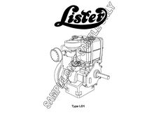 MURRAY PARKER SKETCH (mounted) - LISTER TYPE LD1 ENGINE