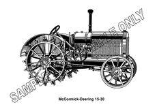 MURRAY PARKER SKETCH (mounted) - McCORMICK DEERING 15-30 TRACTOR
