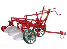 OLIVER THREE FURROW MOULDBOARD PLOUGH    High detail