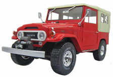 TOYOTA 1967 LANDCRUISER FJ40 CANVAS TOP red  detailed model