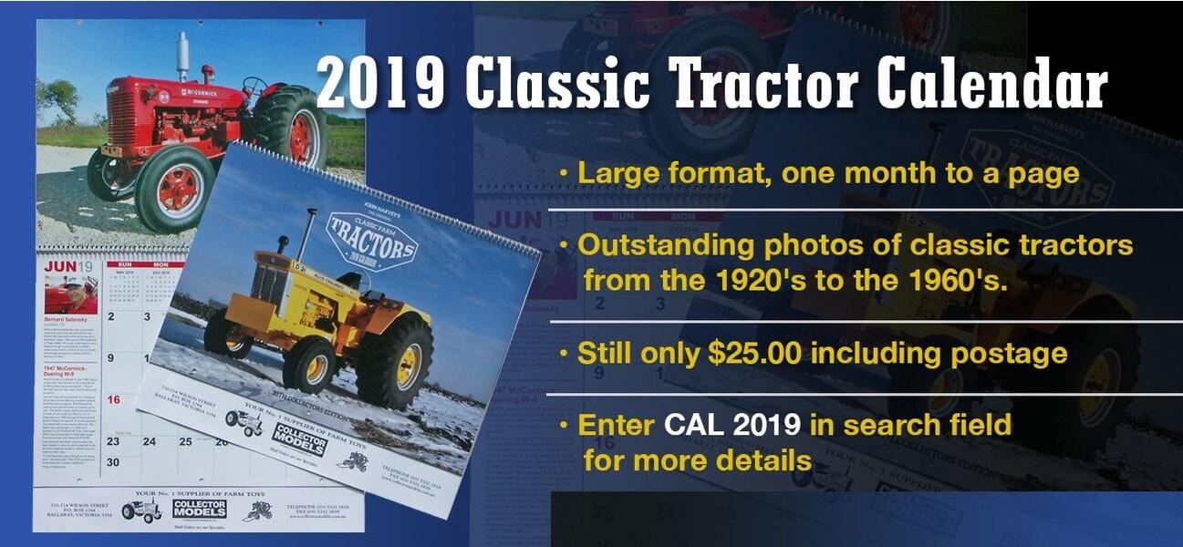 2019 Classic Tractor Calendar - Collector Models