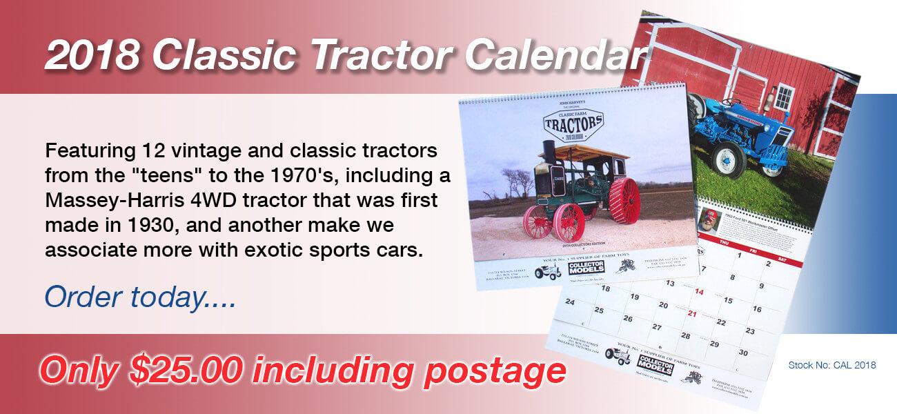 Classic Tractor Calendar - Collector Models