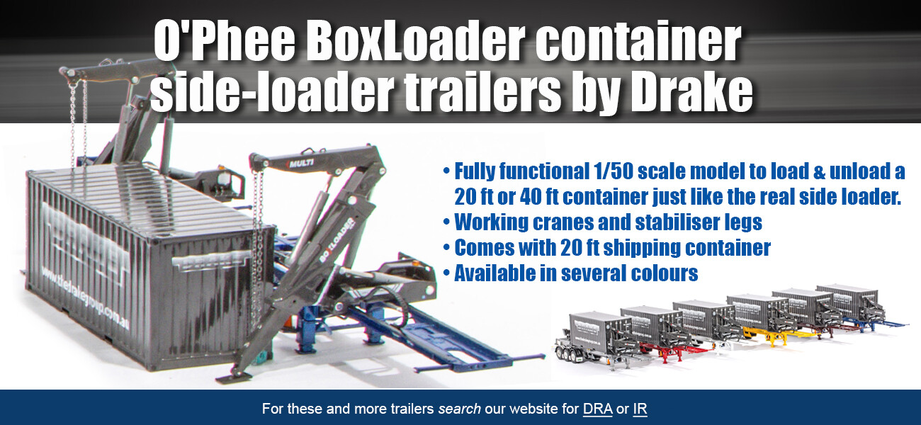 Container side loader trailer