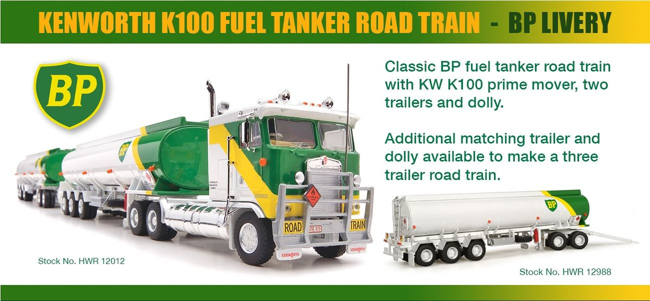 KW K100 Fuel Tanker Road Train - BP