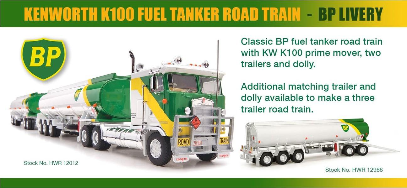 KW K100 Fuel Tanker Road Train - BP