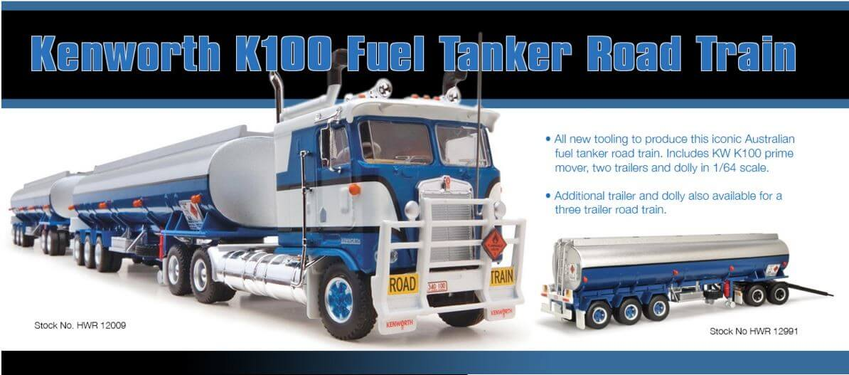 Kenworth K100 Fuel Tanker Road Train - Collector Models