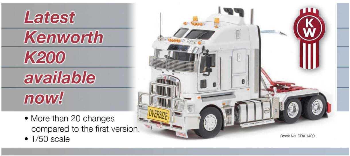 Kenworth K200 Prime Mover new version, fat cab - Collector Models