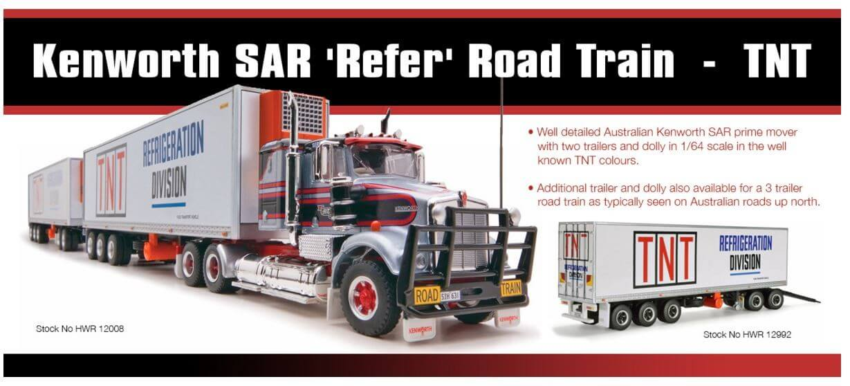 Kenworth SAR 'Refer' Road Train  'TNT' - Collector Models