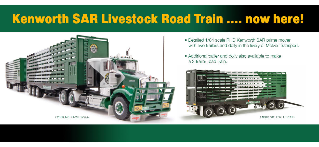 Kenworth SAR cattle truck road train - Collector Models