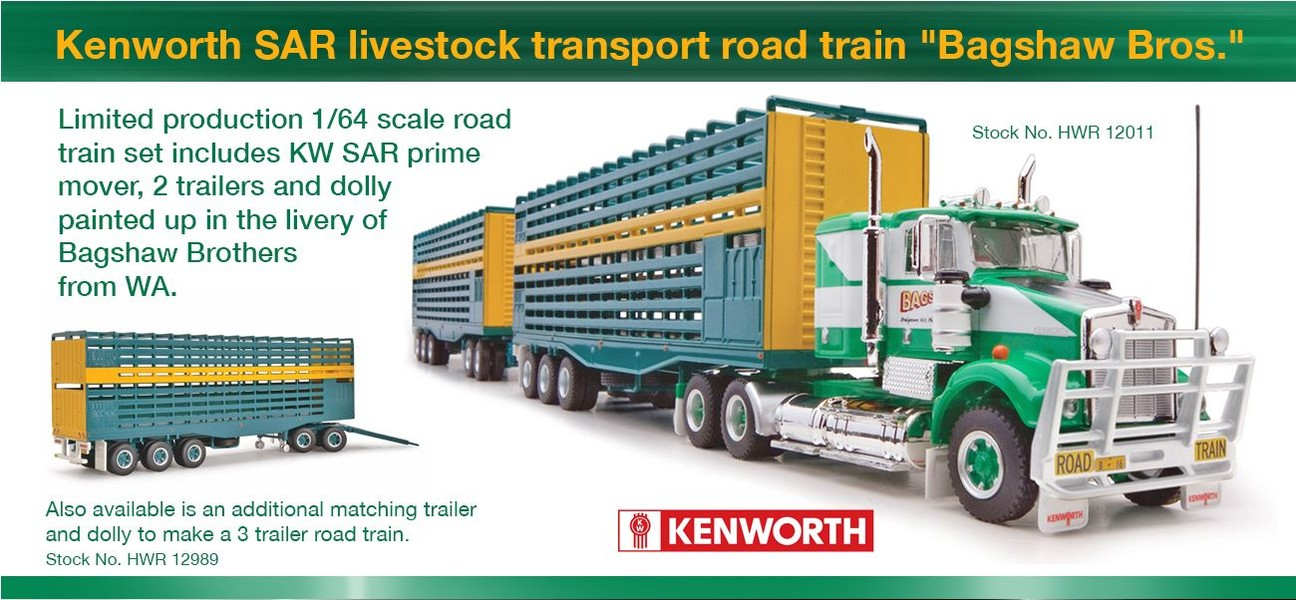 Kenworth SAR livestock transport Road Train 'Bagshaw Bros - WA'