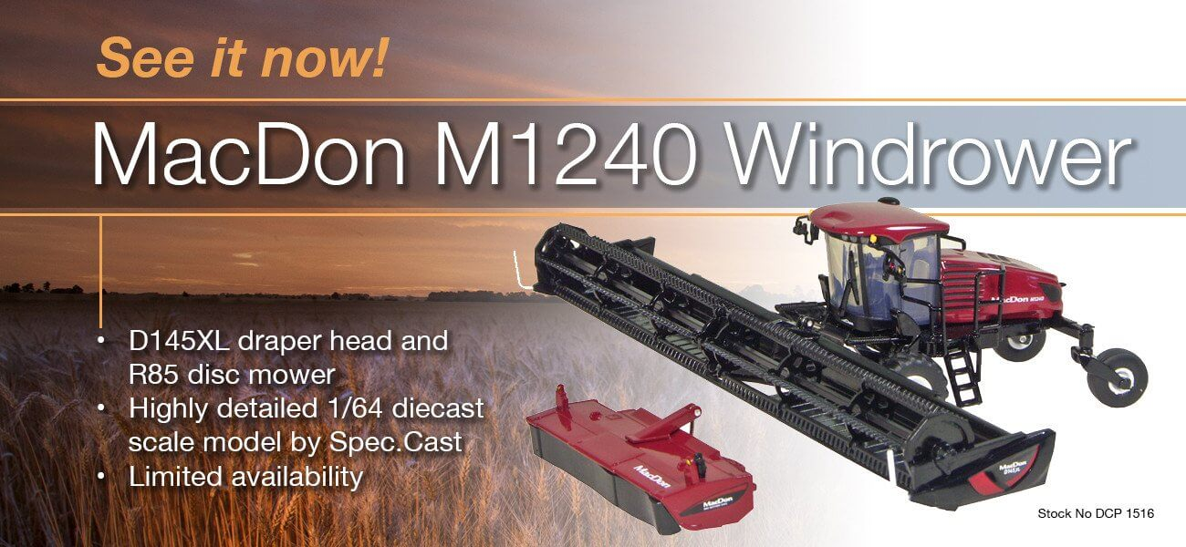 MacDon windrower scale model - Collector Models